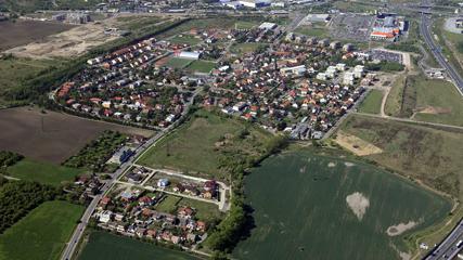 Letecký pohled na Štěrboholy